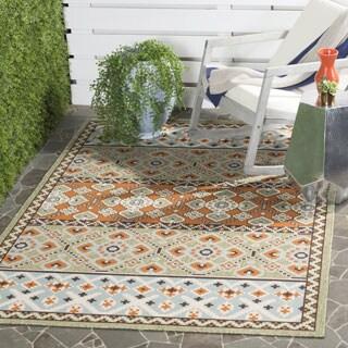 Safavieh Veranda Piled Indoor/ Outdoor Green/ Terracotta Rug - 2'7 x 5'
