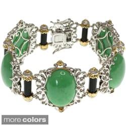 Michael Valitutti Two-tone Purple or Green Jade Bracelet