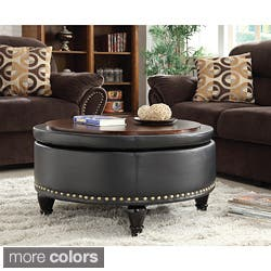 ottomans for living room. INSPIRED by Bassett Augusta Round Storage Ottoman  3 options available Ottomans For Less Overstock com