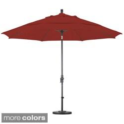 Premium 11-Foot Fiberglass Collar Tilt Umbrella with Stand