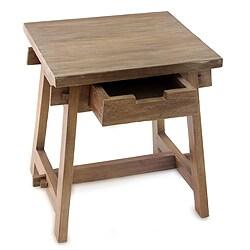 Handcrafted Teakwood 'Mataram Legacy' Side Table (Indonesia)