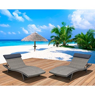 Atlantic Mykonos Grey Deluxe Loungers (Set of 2)