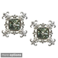Dallas Prince Silver Green, Orange or Yellow Sapphire Earrings