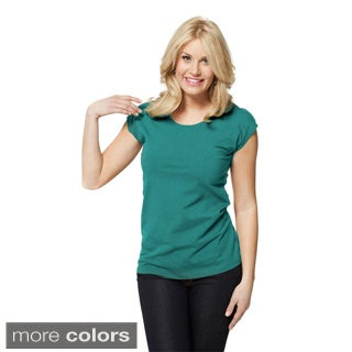 modbod Women's Basic Cap Sleeve Shirt