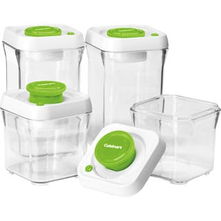 Fresh Edge 8-Piece Vacuum Sealed Food Storage Containers