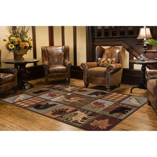 Alise Natural Multi Lodge Area Rug (7'10 x 10' 3)