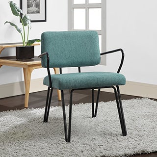 Palm Springs Blue Upholstery Mid Century Accent Chair