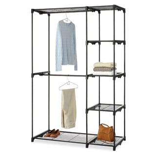 Whitmor 6779-4114-BLK Deluxe Double Rod Closet