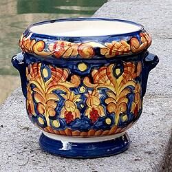 Handcrafted Ceramic 'Royalty' Flower Planter Pot (El Salvador)