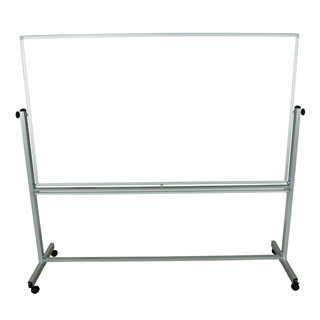 Office Accents Mobile Silver Frame 72 x 40-inch Reversible Magnetic Whiteboard