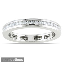 Miadora 14k Gold 1/2ct TDW Certified Diamond Eternity Ring