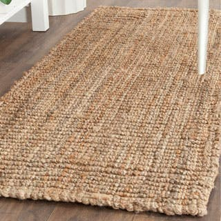 Safavieh Casual Natural Fiber Hand-Woven Natural Accents Chunky Thick Jute Rug (2' x 4')|https://ak1.ostkcdn.com/images/products/P15415495m.jpg?impolicy=medium