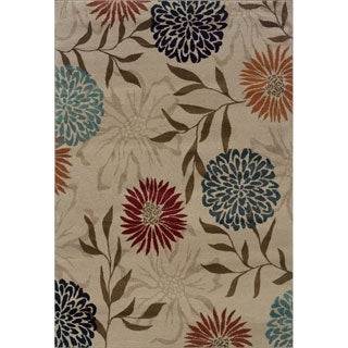 Floral Stone/ Multi Rug (6'7 x 9'6)