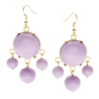 Alexa Starr Goldtone Colored Lucite Bubble Earrings