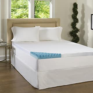 Comforpedic Loft from Beautyrest 4-inch Sculpted Gel Memory Foam Mattress Topper with Polysilk Cover|https://ak1.ostkcdn.com/images/products/P15459547L.jpg?impolicy=medium