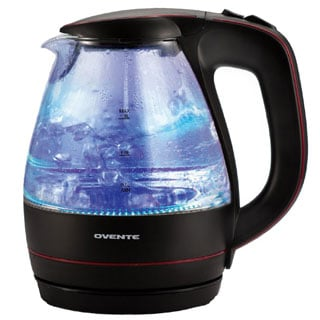 Ovente KG83B Black 1.5 Liter Glass Electric Kettle