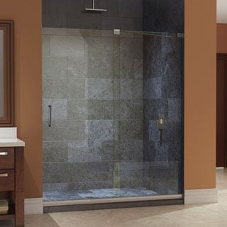 DreamLine Mirage Frameless Sliding Shower Door and SlimLine 36 x 48-inch Single Threshold Shower Base