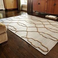"Hand-woven Moroccan Slate Geometric Wool Area Rug - 3'6"" x 5'6"""