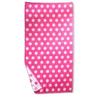 Superior Oversized Polka Dots Cotton Jacquard Beach Towel (Set of 2)