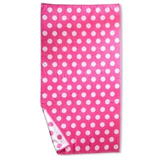 Superior Oversized Polka Dots Cotton Jacquard Beach Towel (Set of 2)