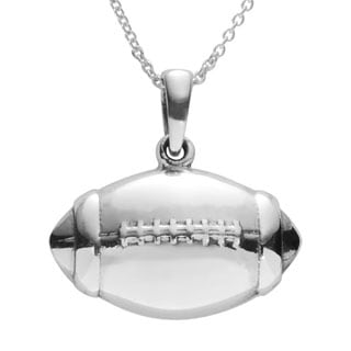 Journee Collection Sterling Silver Football Pendant