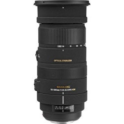 Sigma 50 mm - 500 mm f/4.5 - 6.3 Telephoto Zoom Lens for Sony Alpha