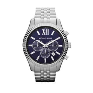 Michael Kors Men's MK8280 'Lexington' Blue Dial Chronograph Watch|https://ak1.ostkcdn.com/images/products/P15536176p.jpg?impolicy=medium