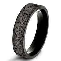Crucible Black Plated Stainless Steel Sandblasted Band