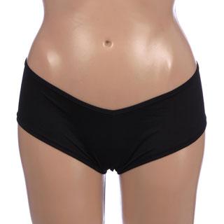 Rene Refe Crotchless Black Lace Up Back Panty