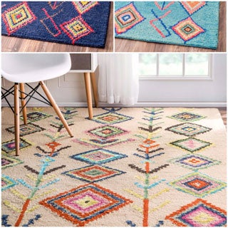 nuLOOM Contemporary Hand-tufted Wool Moroccan Triangle Rug (7' 6 x 9' 6)