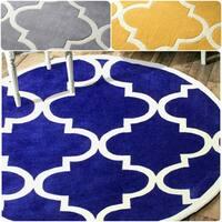Handmade Luna Moroccan Trellis Round Rug  (8' Round)