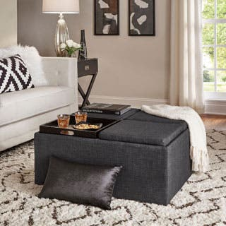 living room ottoman with storage. Montrose Dark Grey Storage Cocktail Ottoman by iNSPIRE Q Bold Ottomans  For Less Overstock com