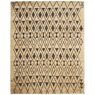 Safavieh Hand-knotted Tangier Ivory/ Black Wool/ Jute Rug (8' x 10')