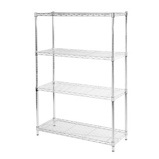 Seville Classics 4-shelf UltraZinc Steel Wire Shelving System