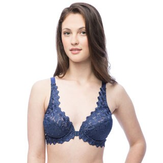 Valmont Front Close Underwire Embroidered Bra
