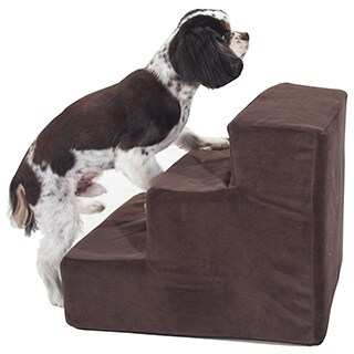Majestic Pet 3-step Suede Pet Stairs