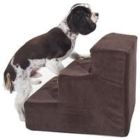 Majestic Pet Suede 3-step Pet Stairs