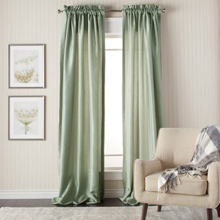 Heritage Landing 96-inch Faux Silk Lined Curtain Pair