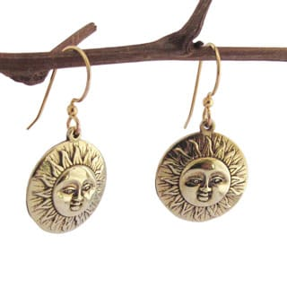 Spirit Tribal Fusion 'Here comes the Sun' Medallion Earrings
