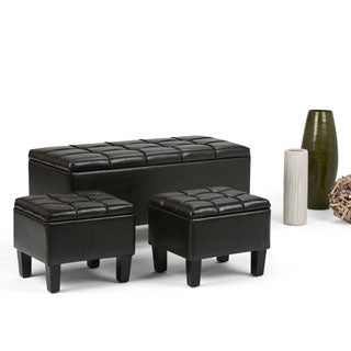 WYNDENHALL Lancaster 3-piece Storage Ottoman Set (Set of 3)