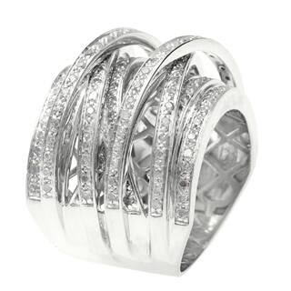 14k Gold Overlay 1ct TDW Multi Row Crossover Diamond Ring|https://ak1.ostkcdn.com/images/products/P15675685a.jpg?impolicy=medium