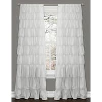 Maison Rouge Letitia Ruffle White 84-inch Curtain Panel