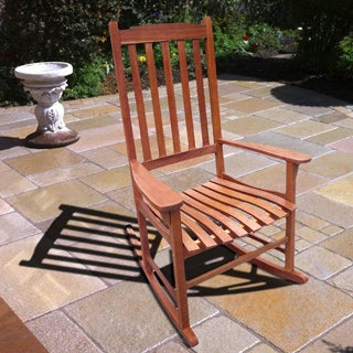 Merry Products Traditional Acacia Hardwood Rocking Chair