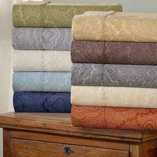 Superior 600 Thread Count Italian Paisley Cotton Blend Deep Pocket  Sheet Set
