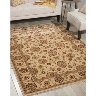 Nourison Persian Crown Ivory Area Rug (5'3 x 7'4)