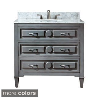 Avanity Kelly 36-inch Single Vanity in Grey/ Blue Finish with Sink and Top