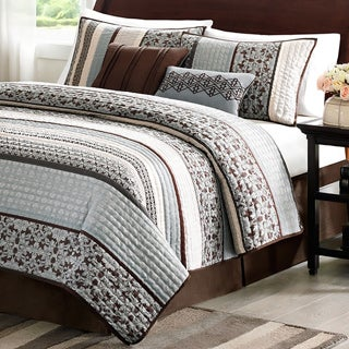 Exceptional Madison Park Harvard 5 Piece Coverlet Set