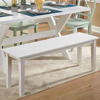 Simple Living Tiffany White Dining Bench|https://ak1.ostkcdn.com/images/products/P15746815ir.jpg?impolicy=medium