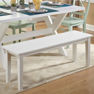 Simple Living Tiffany White Dining Bench