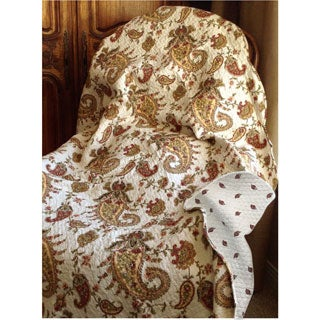 Paisley Quilted Throw